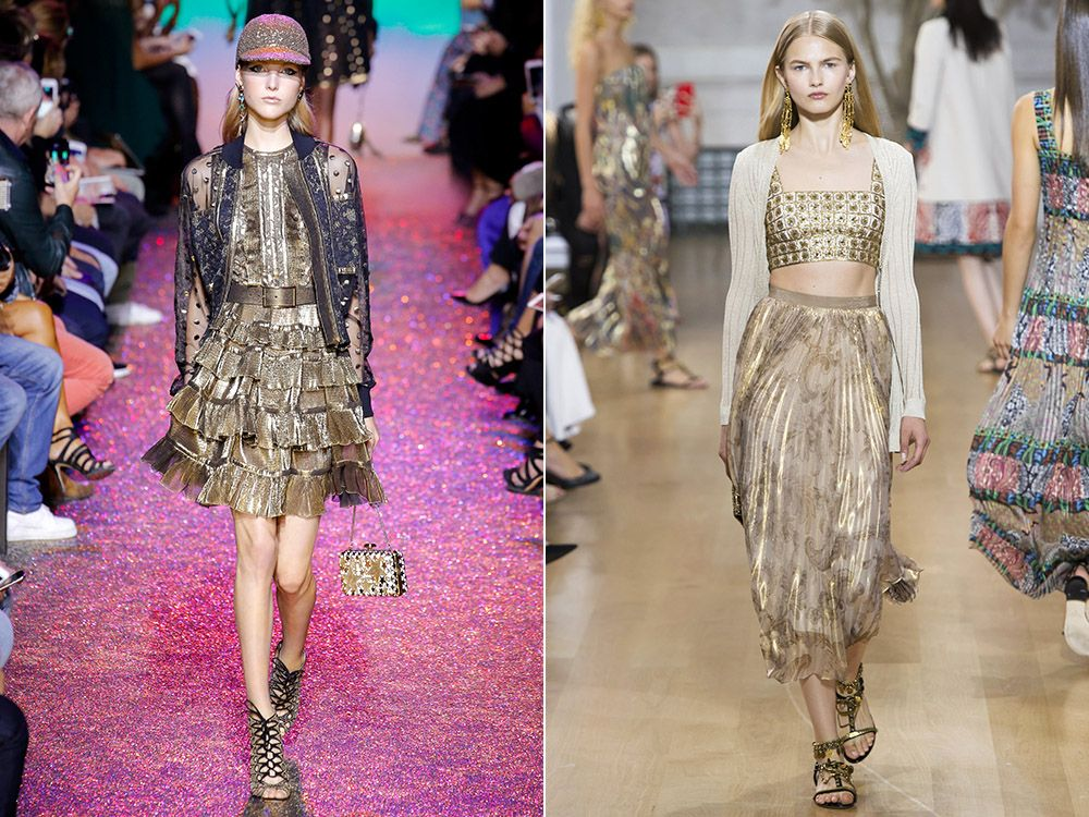 Trend metallic spring-summer 2017