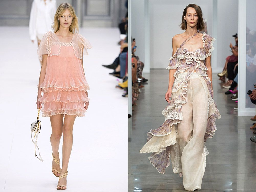 Ruffle and frill trend spring-summer 2017