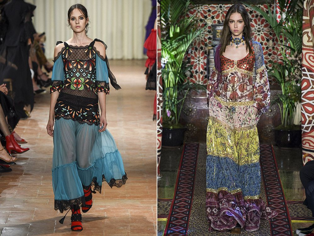 The trend is boho-chic style spring-summer 2017