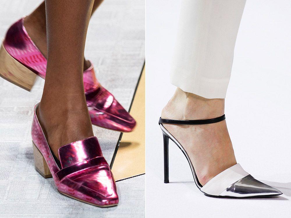 Обувки метални пролет-лято 2017