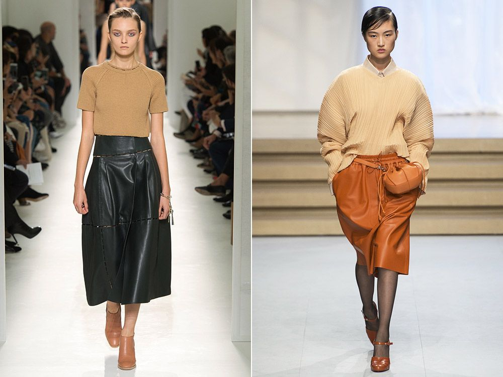 Leather skirt spring-summer 2017