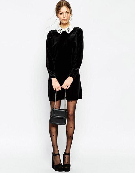 Velvet- dress- is- a- chic- look-32