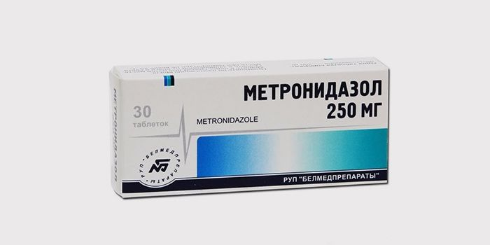 Antibiotic Metronidazole for the treatment of facial demodecosis