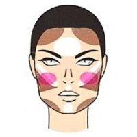 Как да нанесете хайлайтер върху квадратно лице