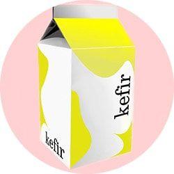 Kefir for lightening hair