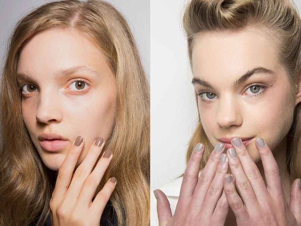 Manicure nude spring-summer 2017