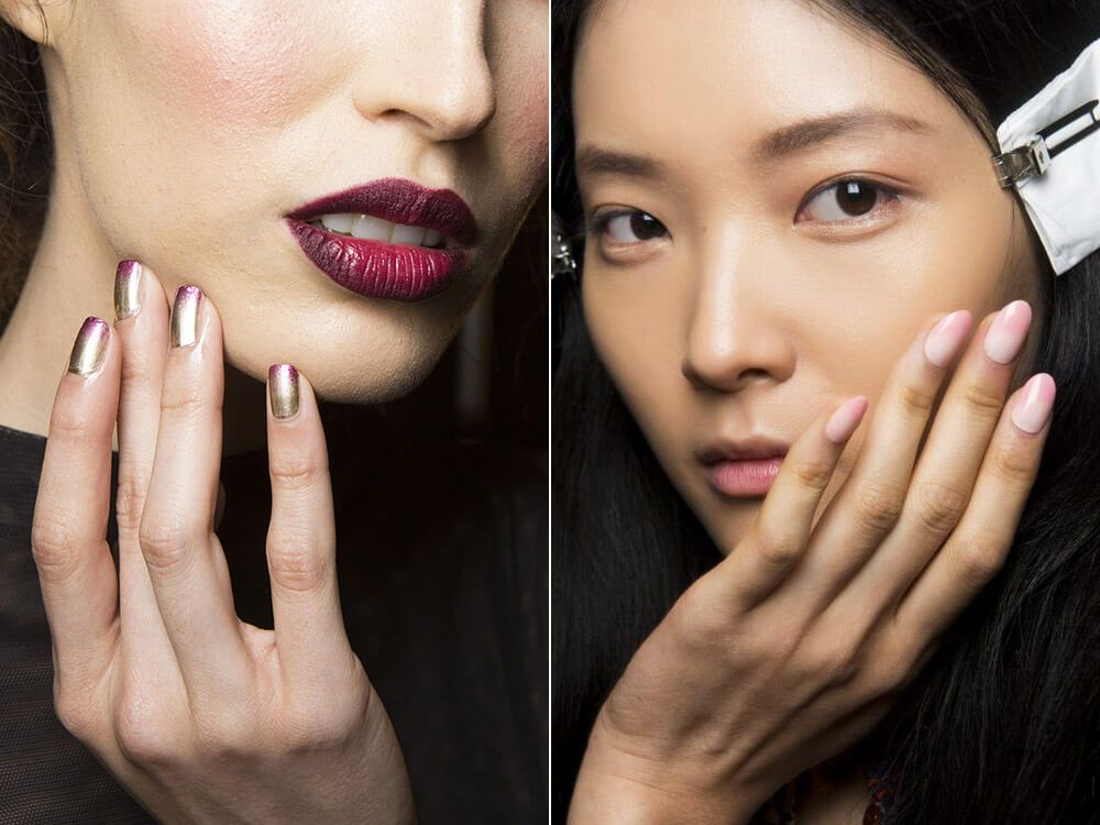 Ombre manicure spring-summer 2017