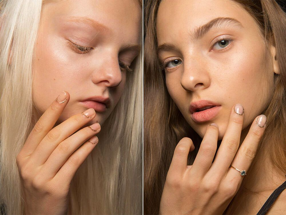 Gilded cuticle manicure spring-summer 2017