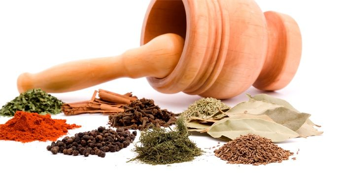 Herbs and spices for the treatment of psoriasis on the face