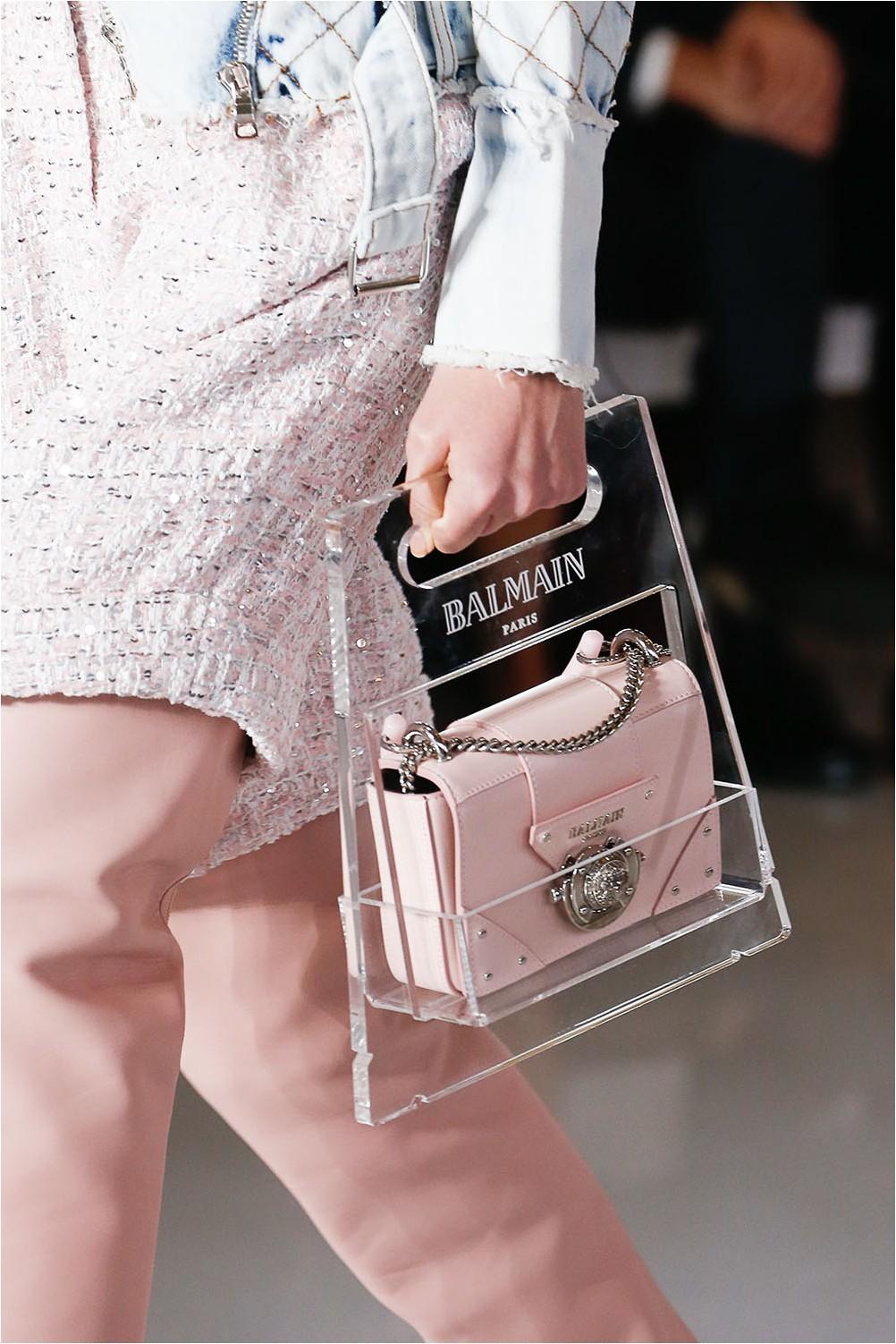 Transparent Balmain Bag