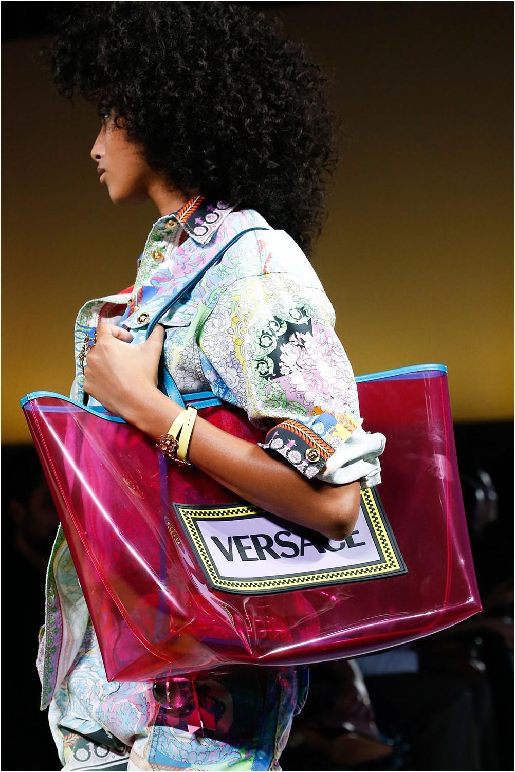 Прозрачна чанта Versace