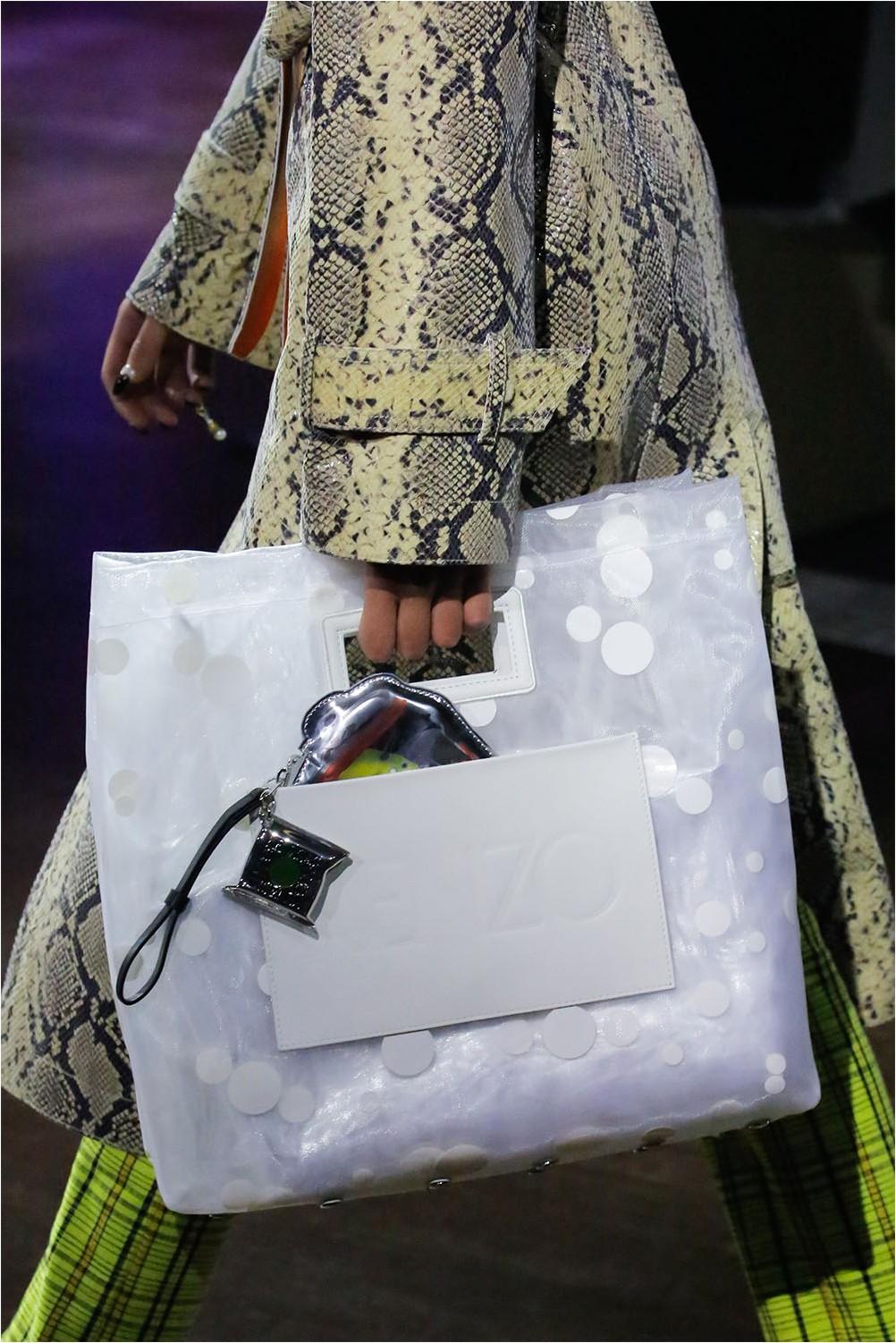 Прозрачна чанта Kenzo