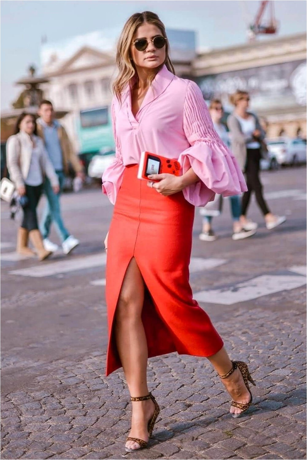 Pencil Skirt with Blouse