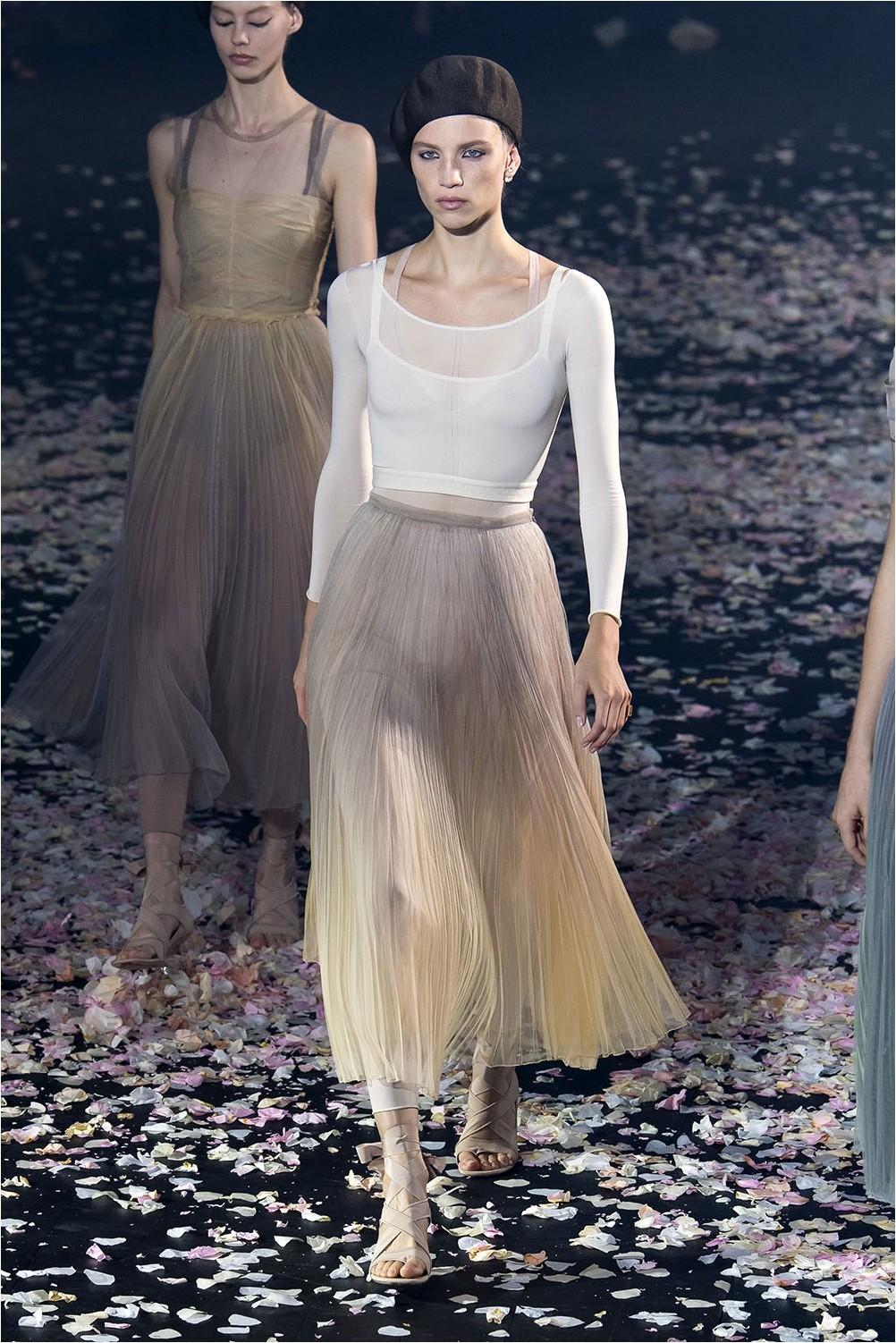 Плисирана пола Christian Dior