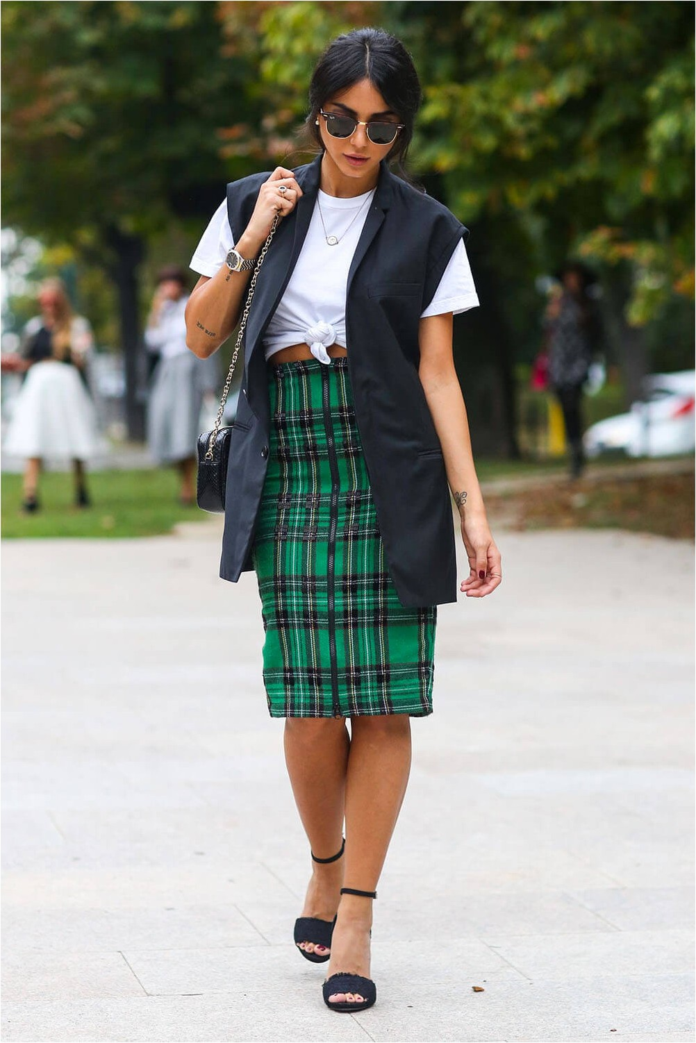 Preppy Style with Pencil Skirt
