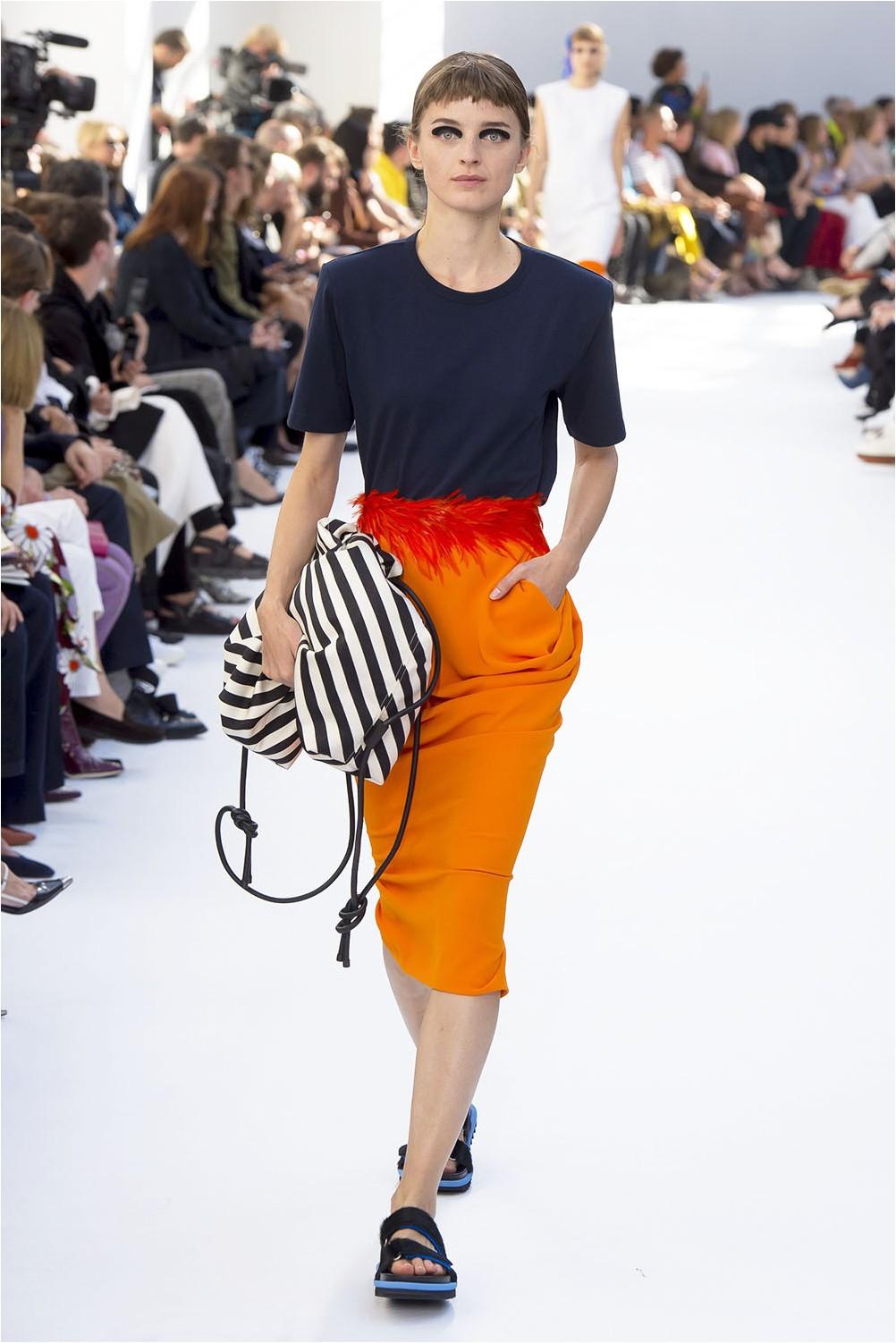 Dries Van Noten Yellow Skirt