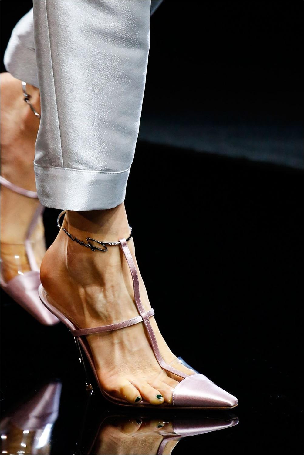 Narrow toe and high stud Giorgio Armani