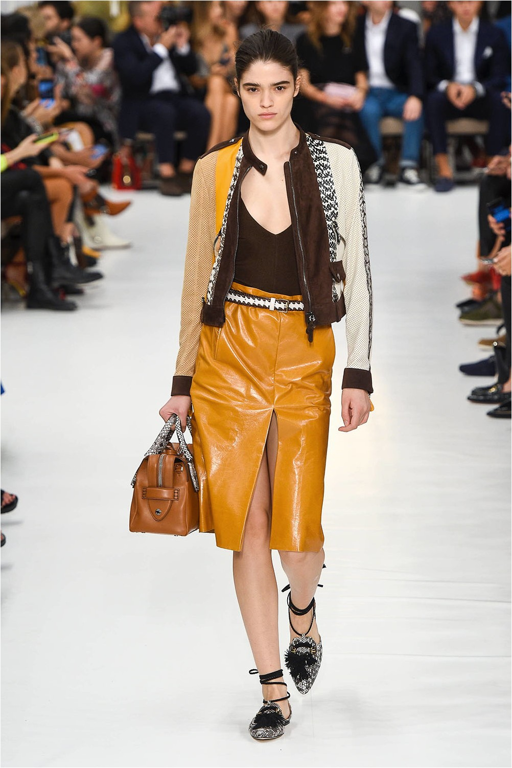Tod's Leather Skirt