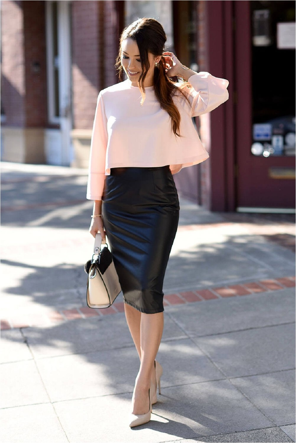 Business style with pencil skirt.