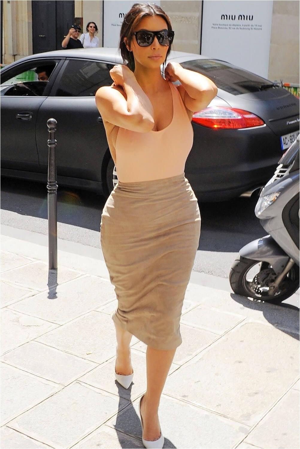 Pear pencil skirt
