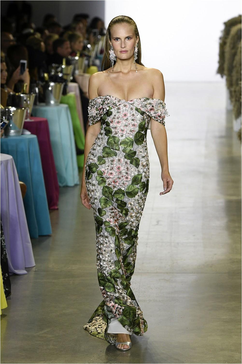 Badgley Mischka Embroidered Dress