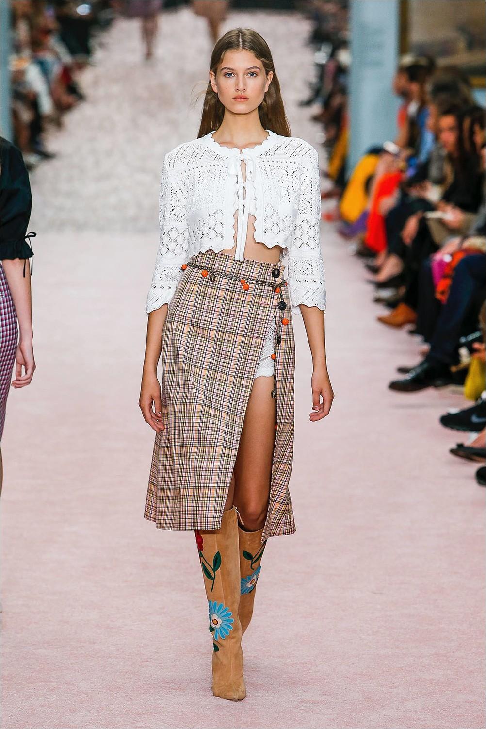 Check Skirt Carolina Herrera