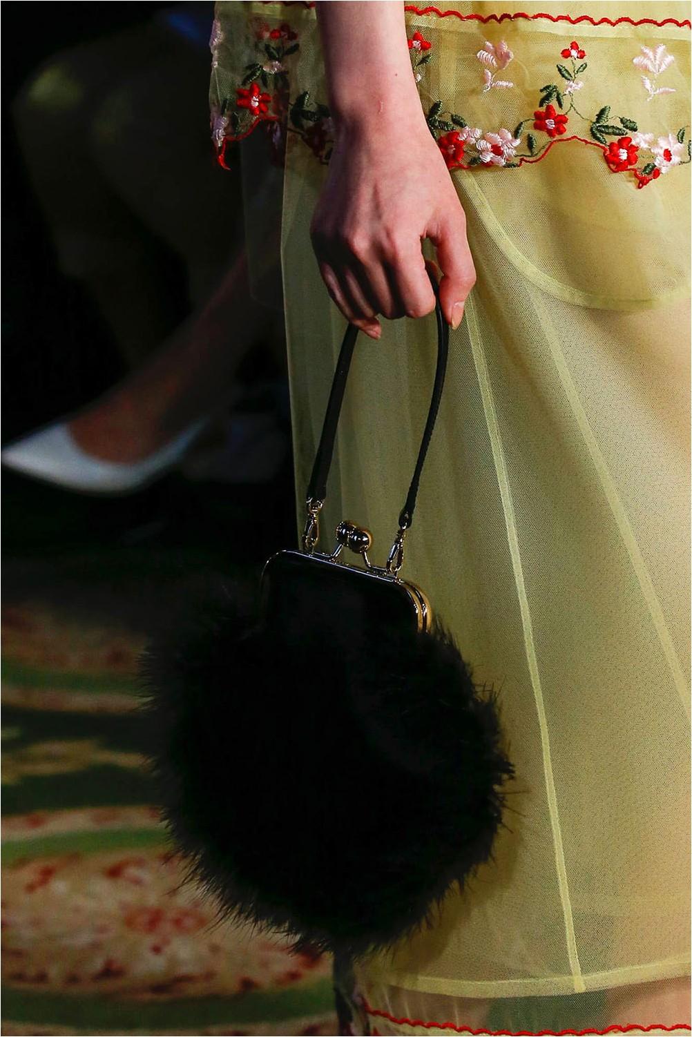 Fur bag Simone Rocha