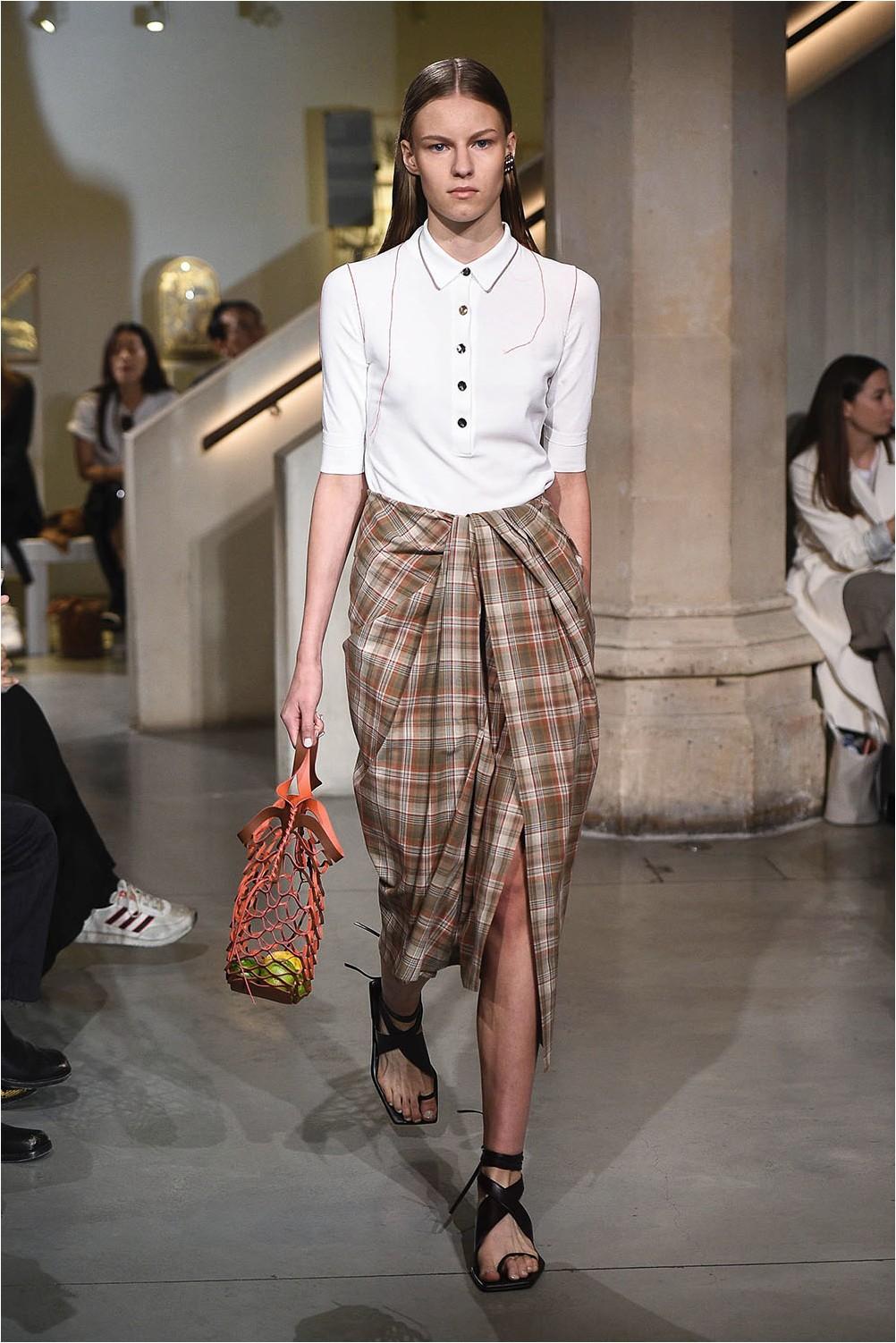 Eudon Choi Check Skirt