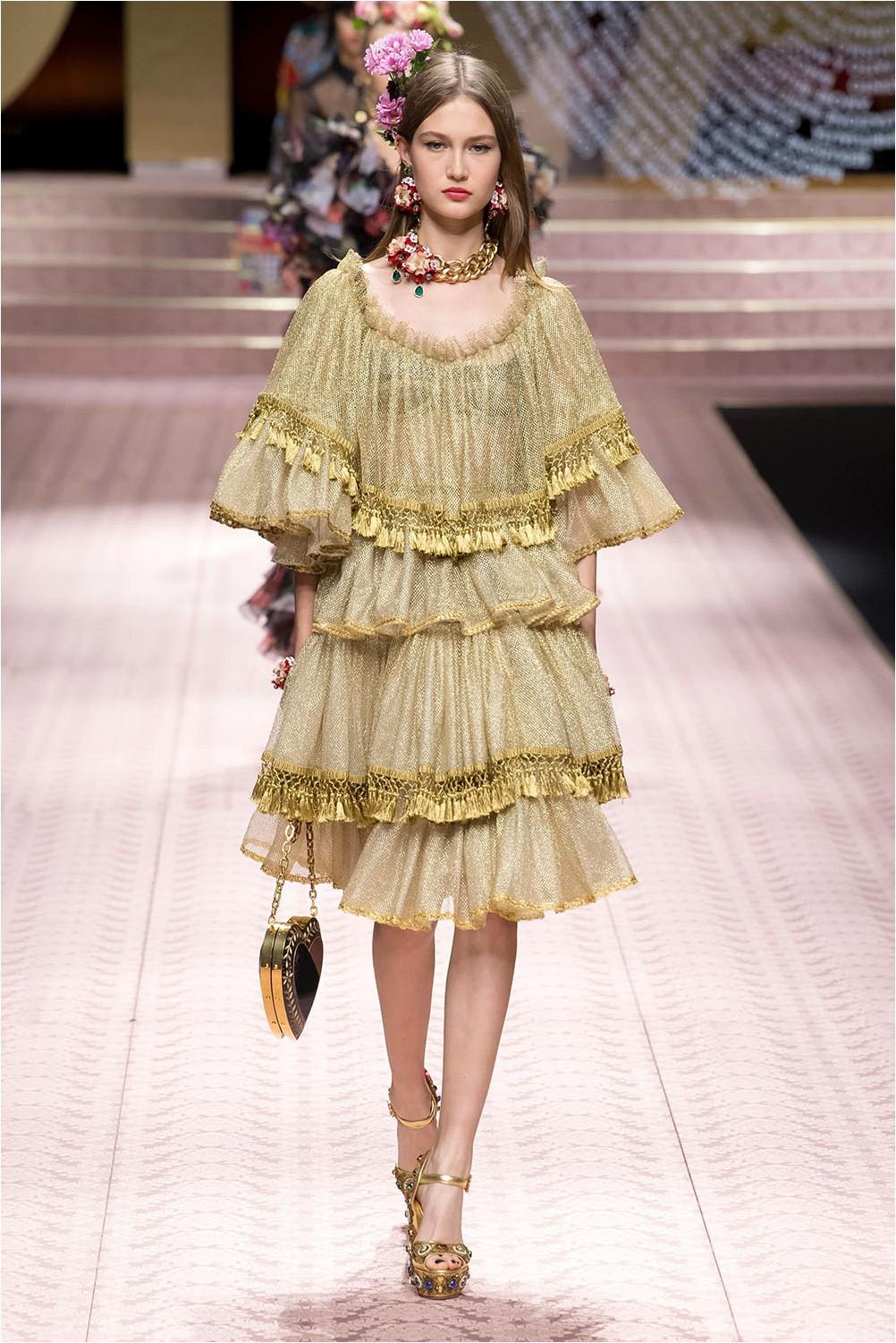 Dolce & amp; ruffle dress Gabbana
