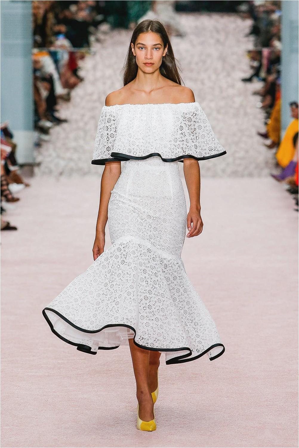 Dress with frill Carolina Herrera