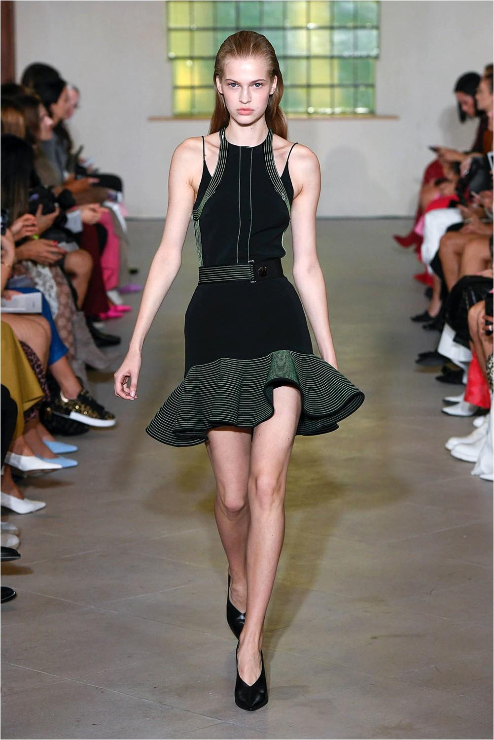 Dress with frill David Koma