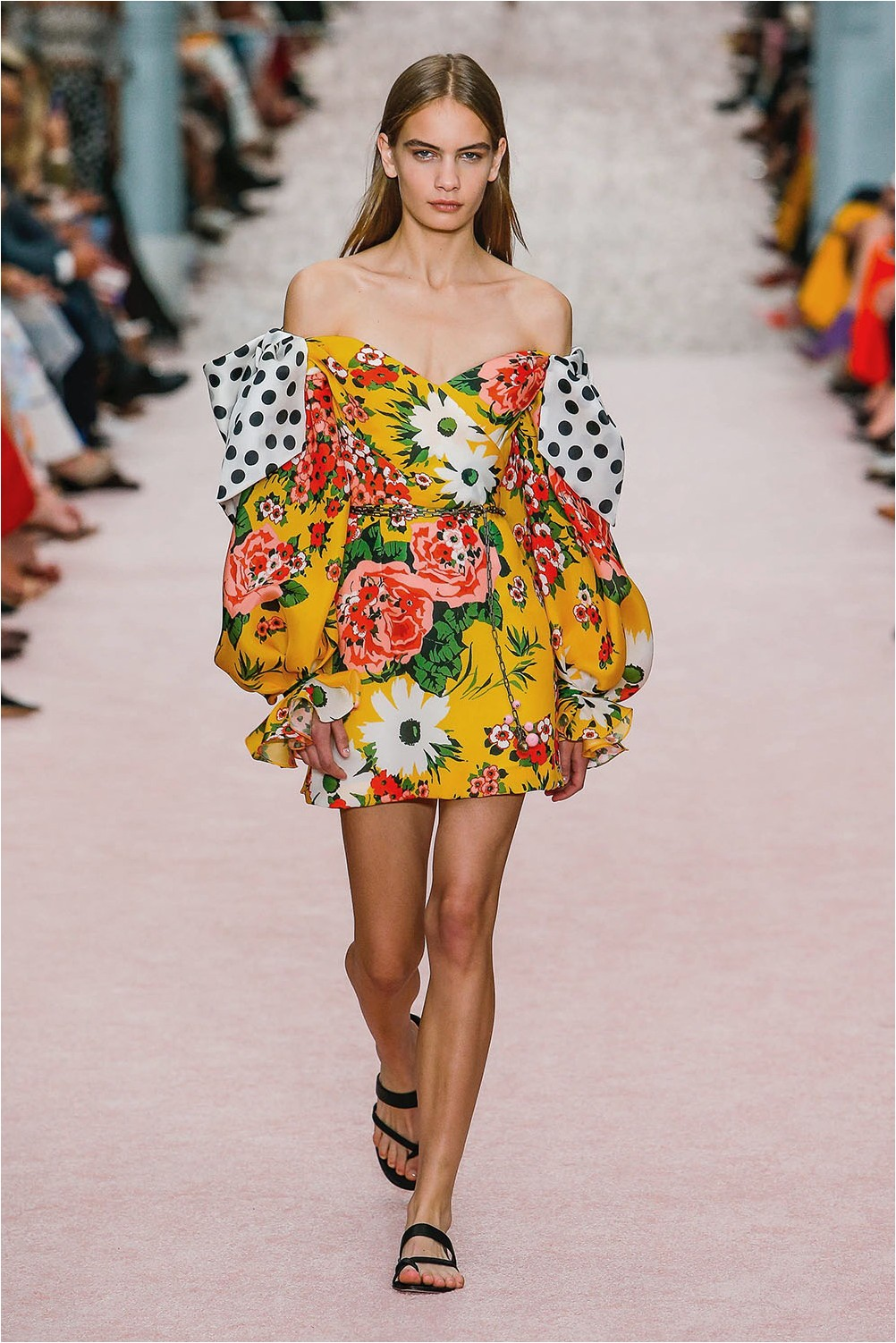 The combination of prints Carolina Herrera