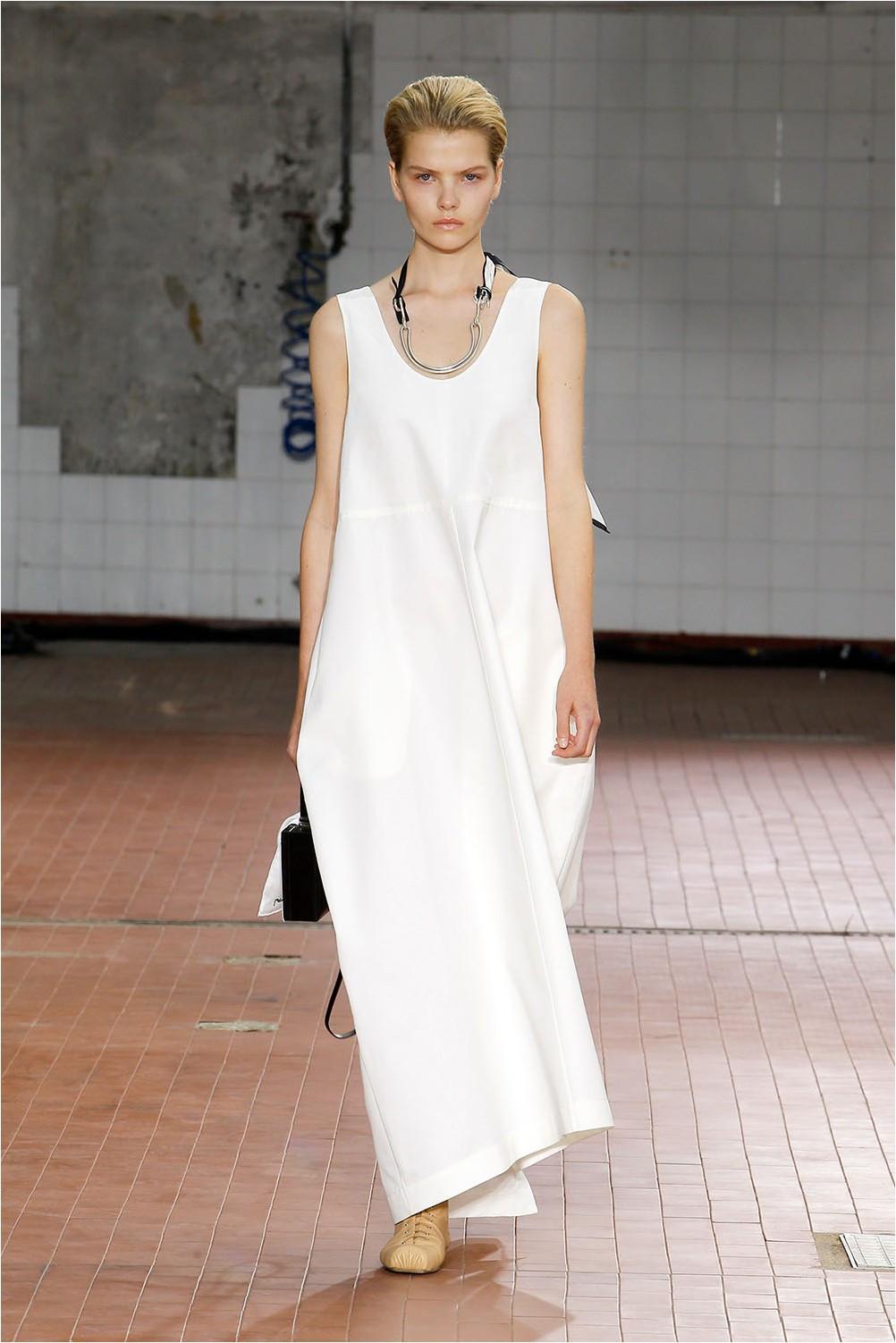Бяла рокля Jil Sander