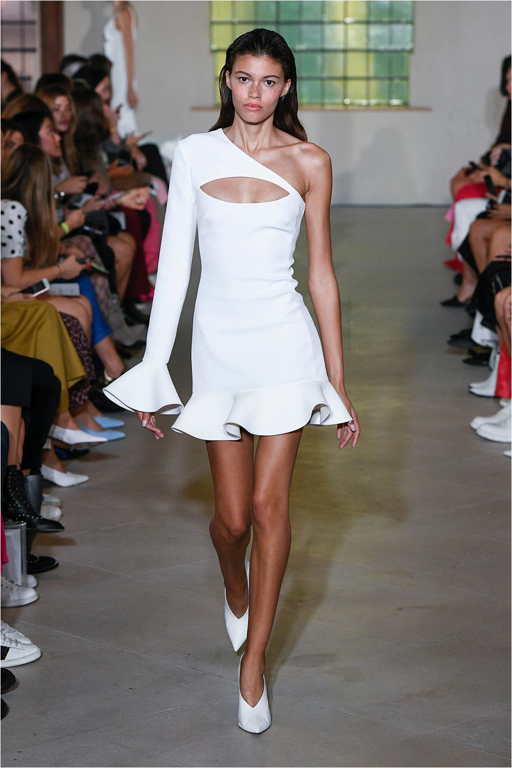 White dress David Koma