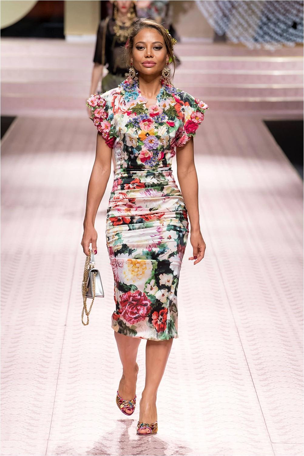 Dolce & флорална рокля Gabbana