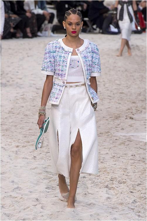 Панталони с шлиц Chanel