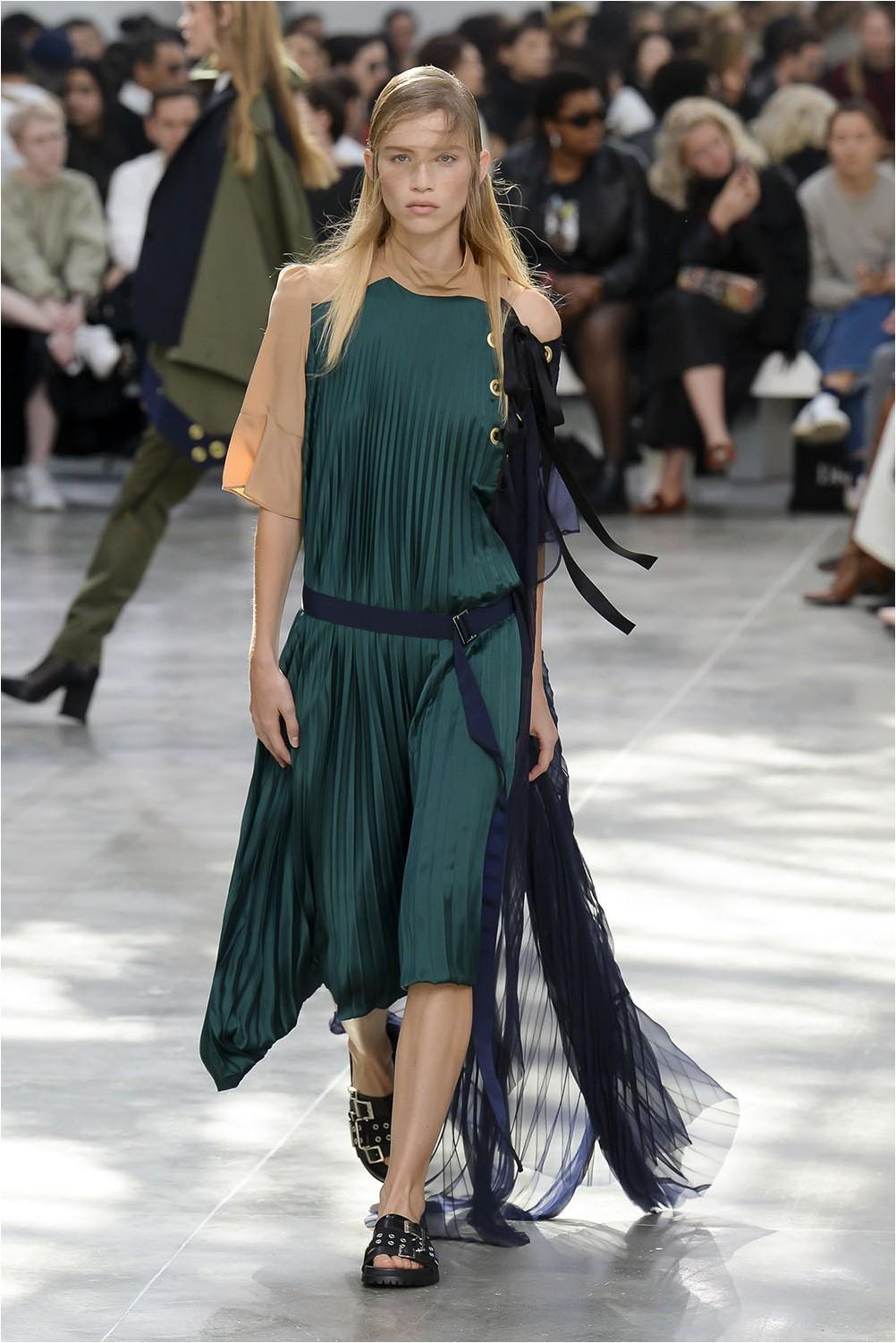 Pleated Dress Sacai