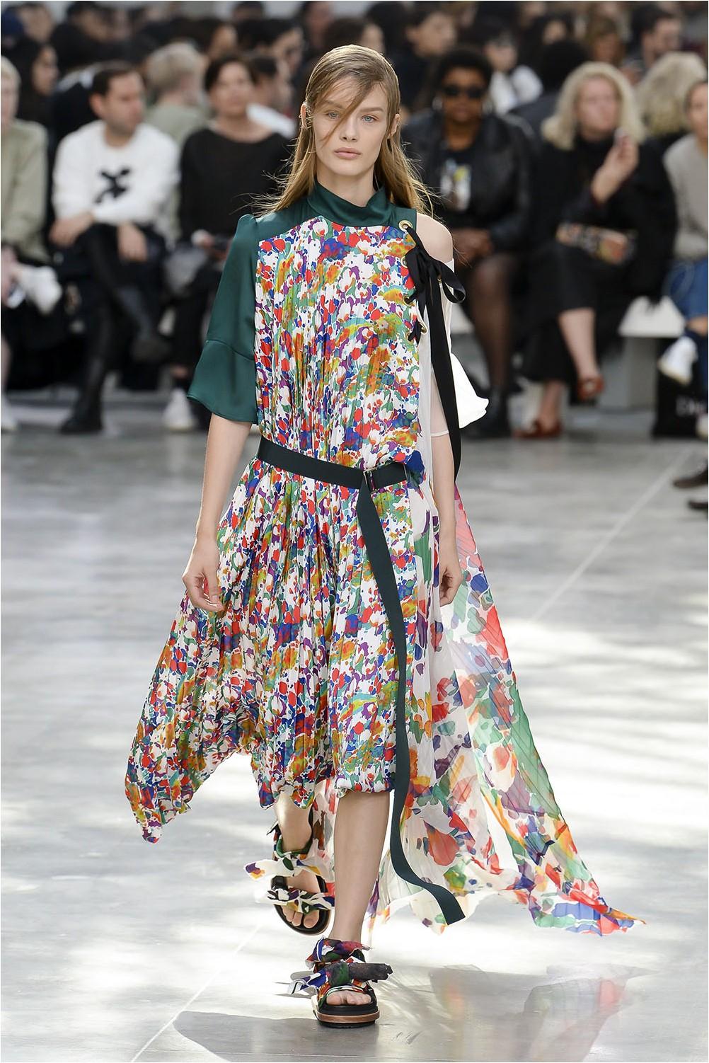 Асиметрична рокля Sacai