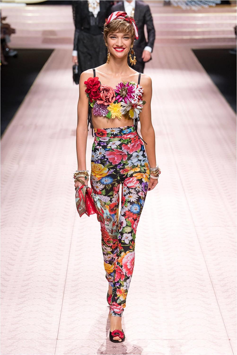 Floral Print Dolce & amp; Gabbana