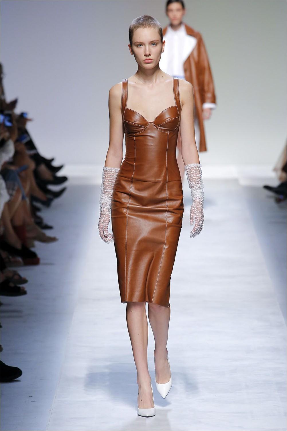 Кожена рокля от Ermanno Scervino